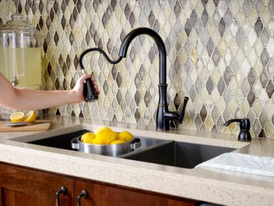 ct:r pfister kitchen faucet Tuscan Bronze Wheaton 1 Handle Pull Down Kitchen Faucet F