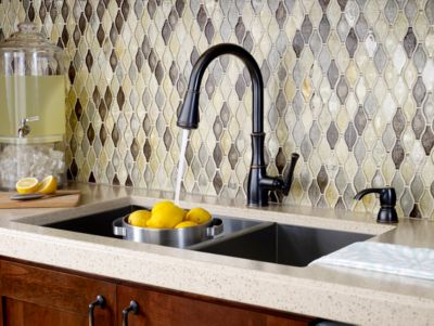 ct:r pfister kitchen faucets Tuscan Bronze Wheaton 1 Handle Pull Down Kitchen Faucet F