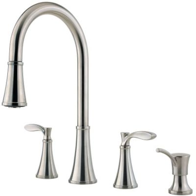 pfister kitchen faucets cheap kitchen faucets Stainless Steel Petaluma 2 Handle Pull Down Kitchen Faucet F Stainless Steel Petaluma 2