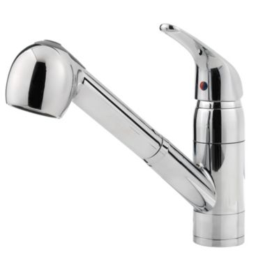 pfister kitchen faucets pfister kitchen faucets Polished Chrome Pfirst Series 1 Handle Pull out Kitchen Faucet G Polished Chrome Pfirst Series
