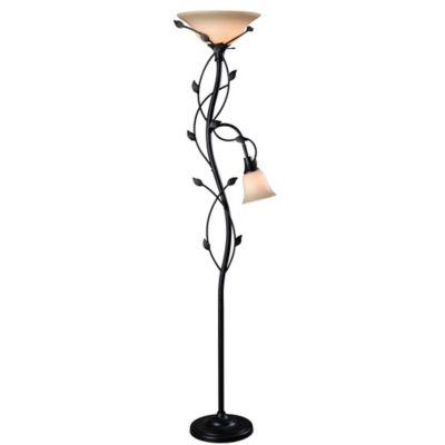 image of kenroy home ashlen momson 2light torchiere lamp in bronze louisville decorative outdoor lighting adds mystique t
