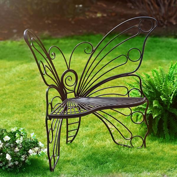 Kirklands Black Butterfly Metal Patio Chair