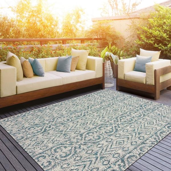F Azure Terrace Sun Shower Outdoor Area Rug 8x10