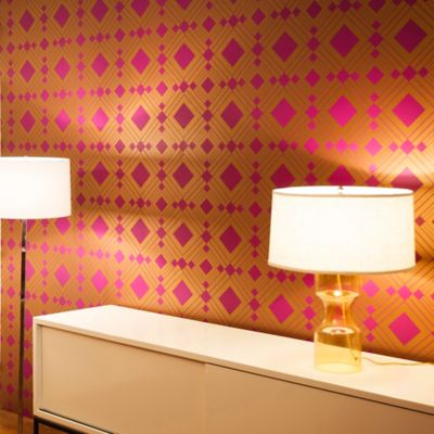 Tempaper® Double Roll Removable Wallpaper in Diamond Violet - Bed Bath & Beyond
