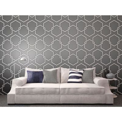 Tempaper® Removable Wallpaper in Honeycomb Grey - Bed Bath & Beyond