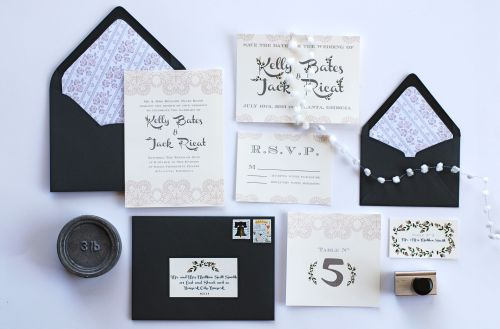 Medium Of Vintage Wedding Invitations
