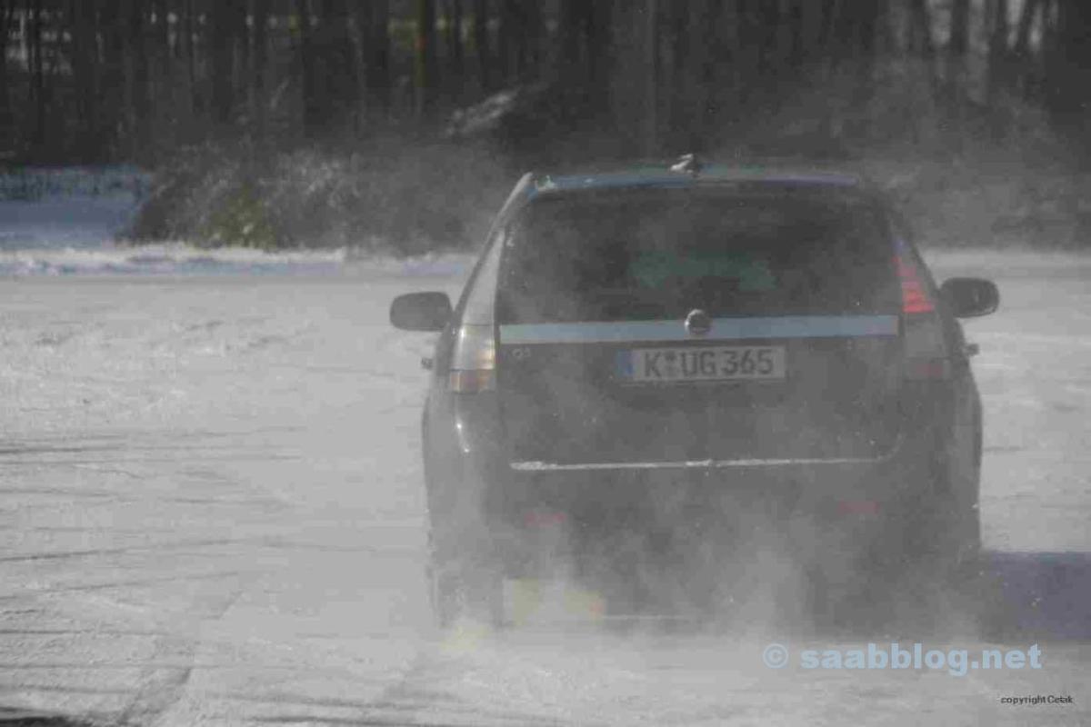 Was tut ein Saab Fan ohne Saab im Winter?