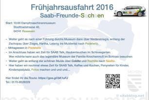Frühlingsausfahrt der SAAB Freunde Sachsen am 22.Mai