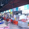 The hawker stalls at First Beach Tanjung Aru