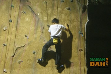 Hold on tight, but don't be afraid to fall. There is always somebody else in control of your climbing rope