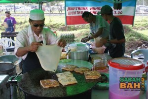 Murtabak - a savoury type of pancake filled with veggies and or meat