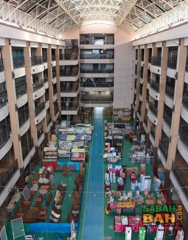 Central atrium of Tanjung Aru Plaza in Kota Kinabalu, Sabah