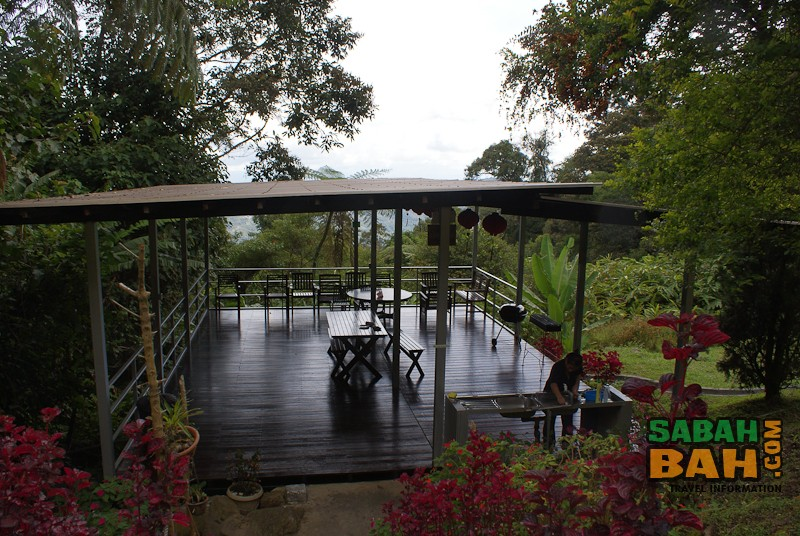 J Residence's J Lounge - a communal area for chilling, get-togethers or BBQs at Kinabalu Park, Sabah