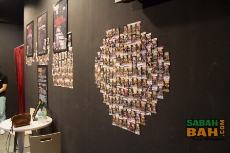 The Wall of Shame ourside Escapee's escape rooms in Kota Kinabalu, Malaysia