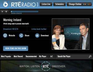 Sabina Brennan, RTE Morning Ireland, memory Loss, Dementia, Stigma