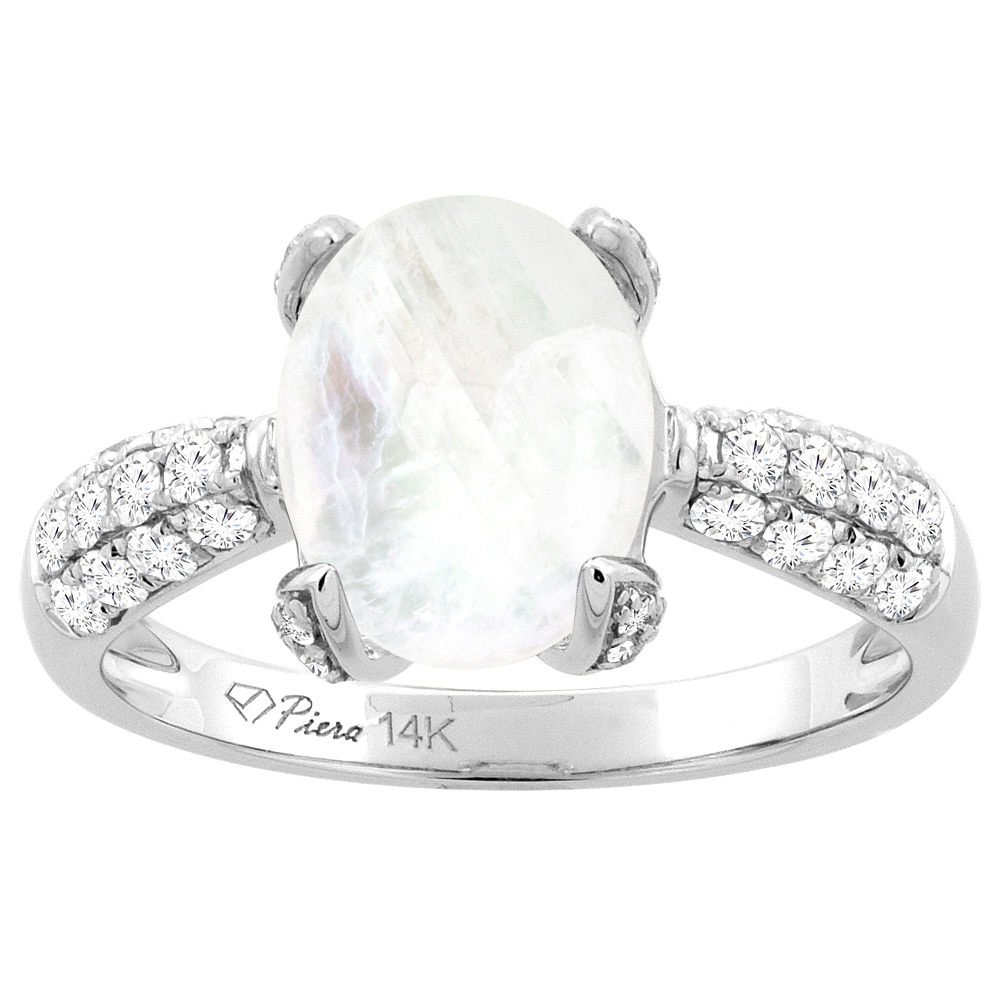 home moonstone wedding ring sets Rainbow Moonstone