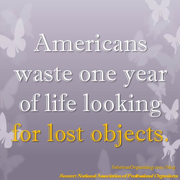 Americans waste one year of life looking for lost objects.