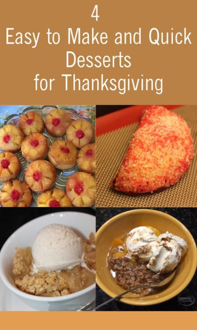 4 Easy to Make and Quick Desserts for Thanksgiving | Sabrina's Organizing