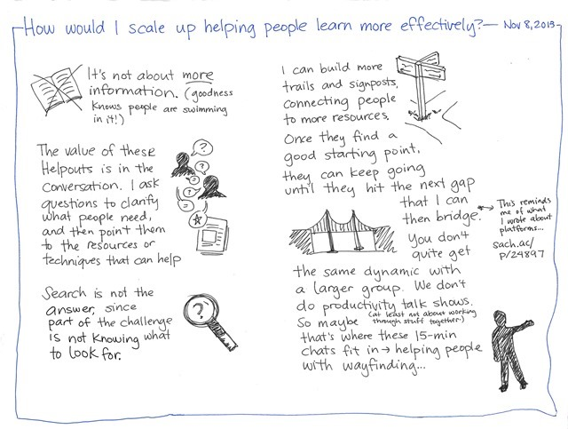 2013-11-08 How would I scale up helping people learn more effectively