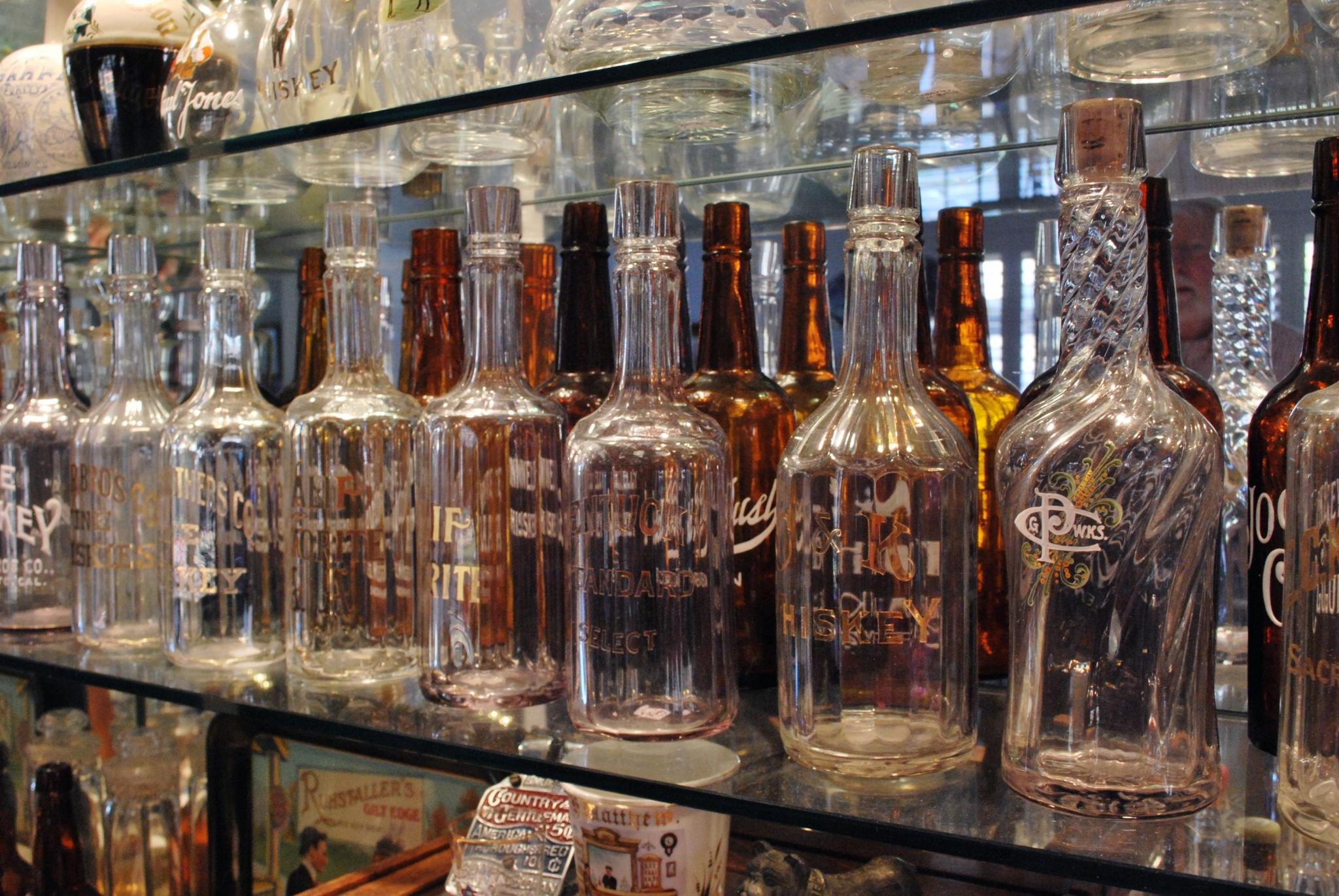 Local whiskey bottle collection sheds light on social for Abbott california cuisine