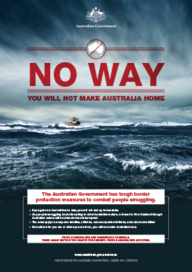 A real ad from the Australian government. |How should we respond to 'boat people' and other refugees? By saying 'welcome' | Sacraparental.com