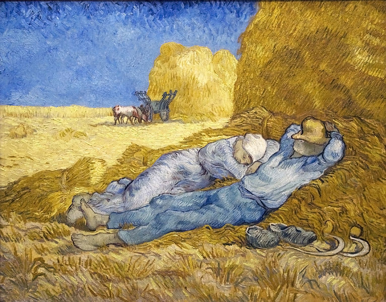 Vincent van Gogh, Noon Rest from Work.