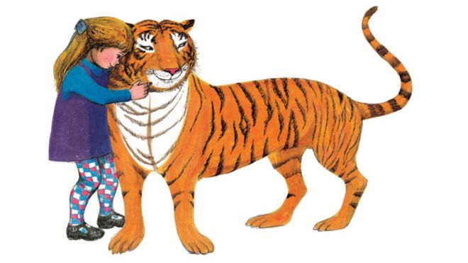 Illustration from The Tiger Who Came to Tea, by Judith Kerr.
