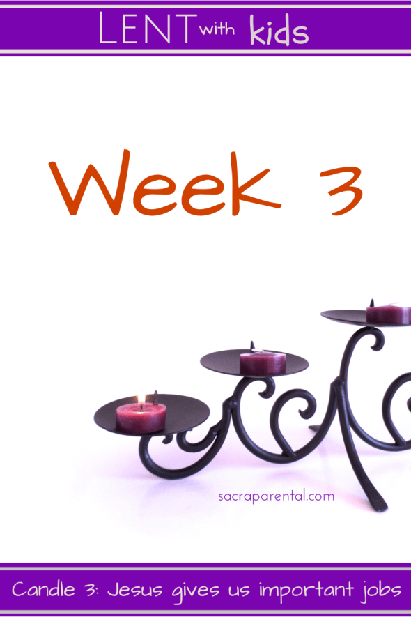 Week 3 of Lent, Lent 3 with kids, Sacraparental Lent with kids, Christian parenting blogs, New Zealand parenting blogs, doing Lent at home with kids, woman at the well, Christ and the Samaritan woman