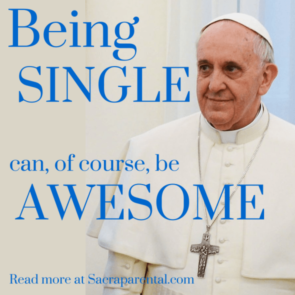 A great series for everyone on being single | Sacraparental.com