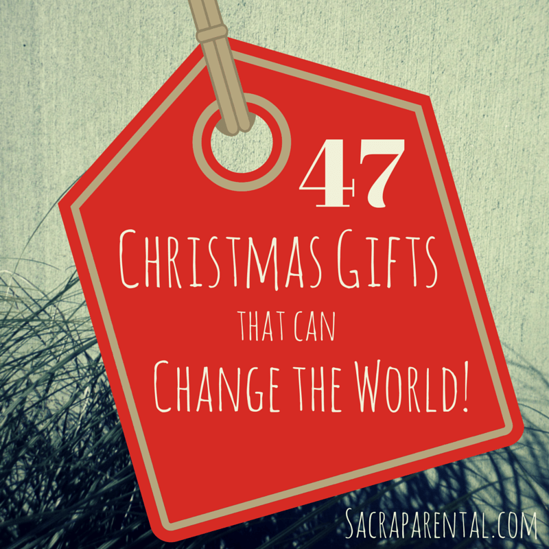 47 christmas gifts that can change the world sacraparentalcom