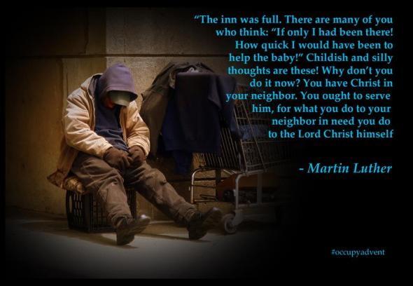 Martin Luther quotation via Occupy Advent | Sacraparental.com