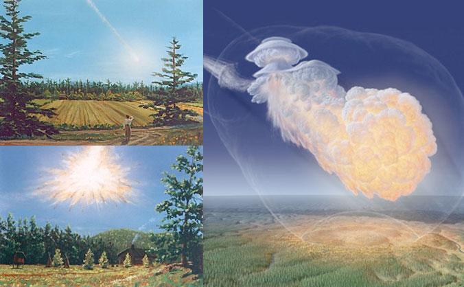 Tunguska impact by Don Davis