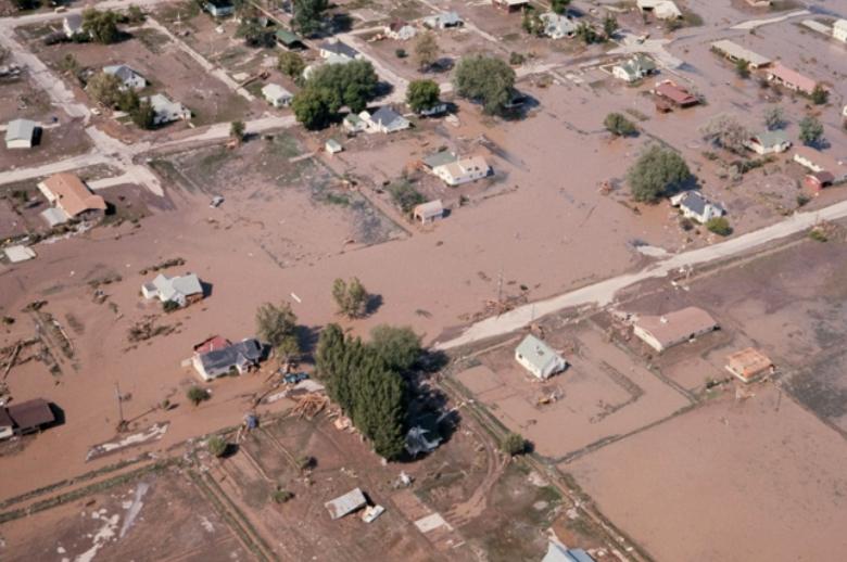 aftermath, teton dam, flood