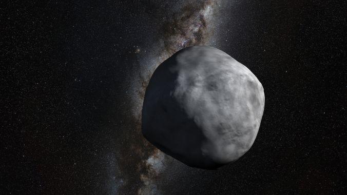 An artist's impression of asteroid Bennu, the target of NASA's OSIRIS-REx sample return mission. Credit: NASA's Goddard Space Flight Center, Greenbelt, Maryland