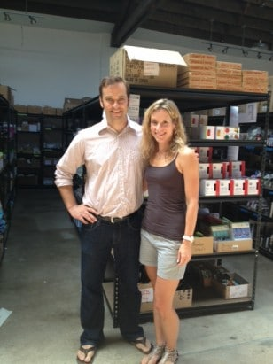 Chris Conn and I in the MightyNest Warehouse