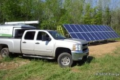 Ground-mounted solar array