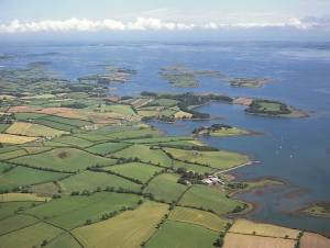 Looking north over Strangford Lough from above EDYC