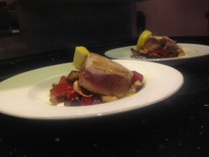 Seared Indian Ocean Tuna on a bed of Roasted Vegetables (Paul's Fav!)