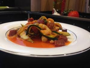 Spicy Prawn & Chrizo salad (Eddie's fav)
