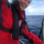 Floris catches mackerel