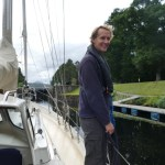 Entering a Caledonian Canal lock