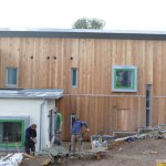 """An energy neutral """"passive"""" house under construction in Totnes"""