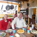 Casita Verde breakfast, with Cubanito and Alberto