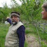 Pietro in his permaculture vineyard