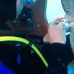 Underwater anode replacement