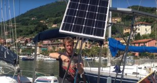 How to fit Big Solar Panels on a small Boat. VIDEO