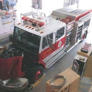 Decommissioned Pasco County fire truck before renovation