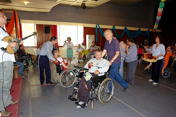 Patients entertained with music and dance at the Chronic Ailment Clinic
