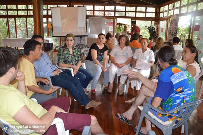 Working group at retreat, Ecuador