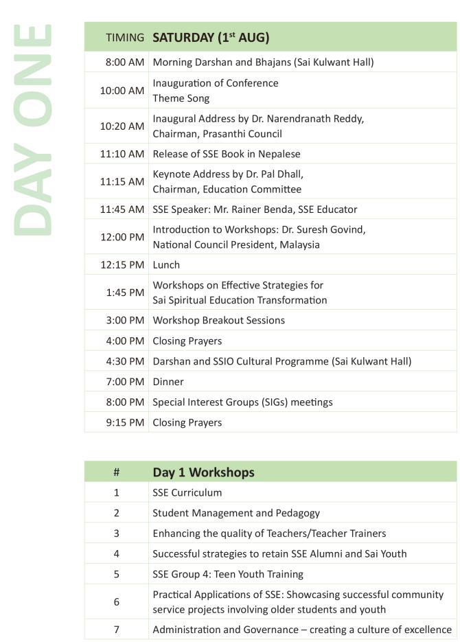 SSEC Schedule-1